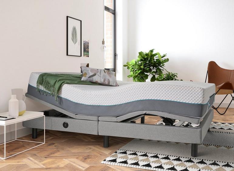 Sleepmotion 900i Adjustable Bed Frame 4'6 Double GREY