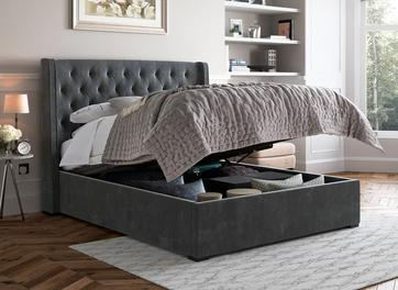 Deacon Fabric Upholstered Ottoman Bed Frame