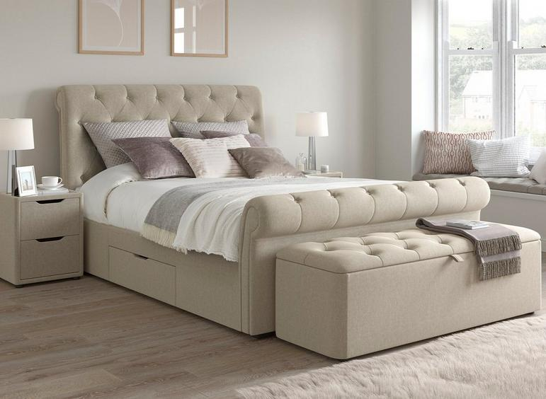 timeless design 3c547 894f0 Langford Upholstered Bed Frame - Free Delivery   Dreams