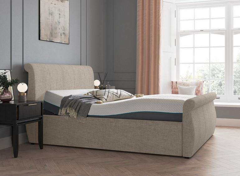 Lucia Sleepmotion 200i Adjustable Upholstered Bed Frame 3'0 Single SILVER