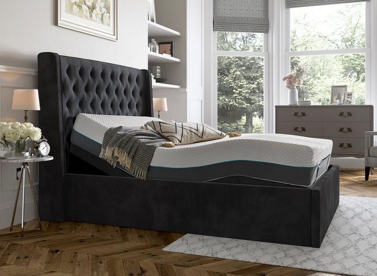 Deacon Sleepmotion 200i Adjustable Upholstered Bed Frame 6'0 Super king GREY