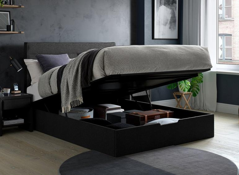 Sutton Upholstered Ottoman Bed Frame 5'0 King GREY