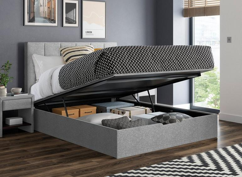 Ealing Silver Ottoman Bed Frame 4'6 Double