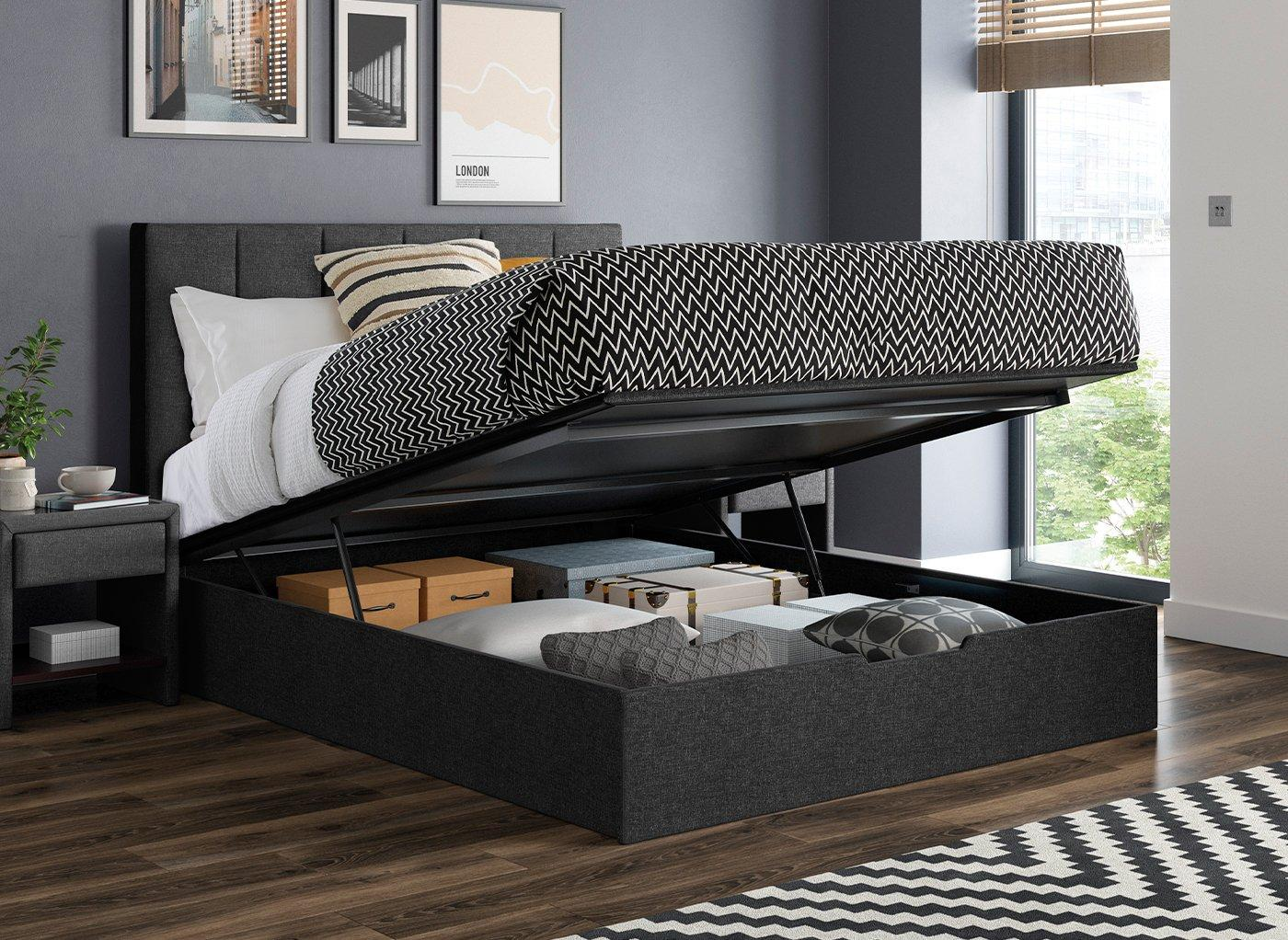 Ealing Grey Ottoman Bed Frame 4'0 Small double