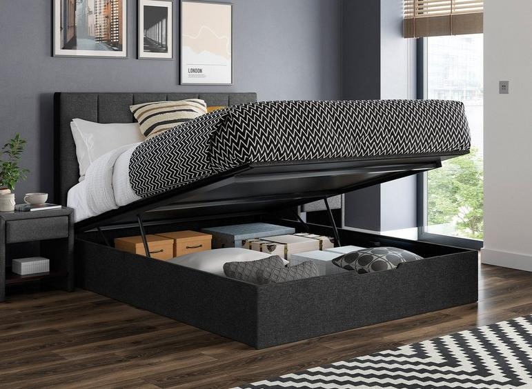 Ealing Grey Ottoman Bed Frame 4'6 Double