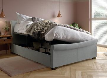 William Upholstered Ottoman Bed Frame