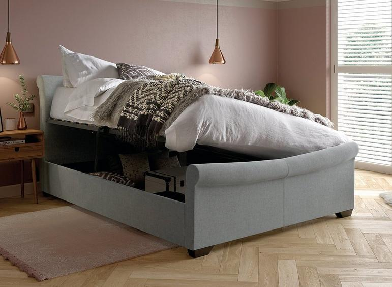 William Grey Fabric Ottoman Bed Frame 4'6 Double