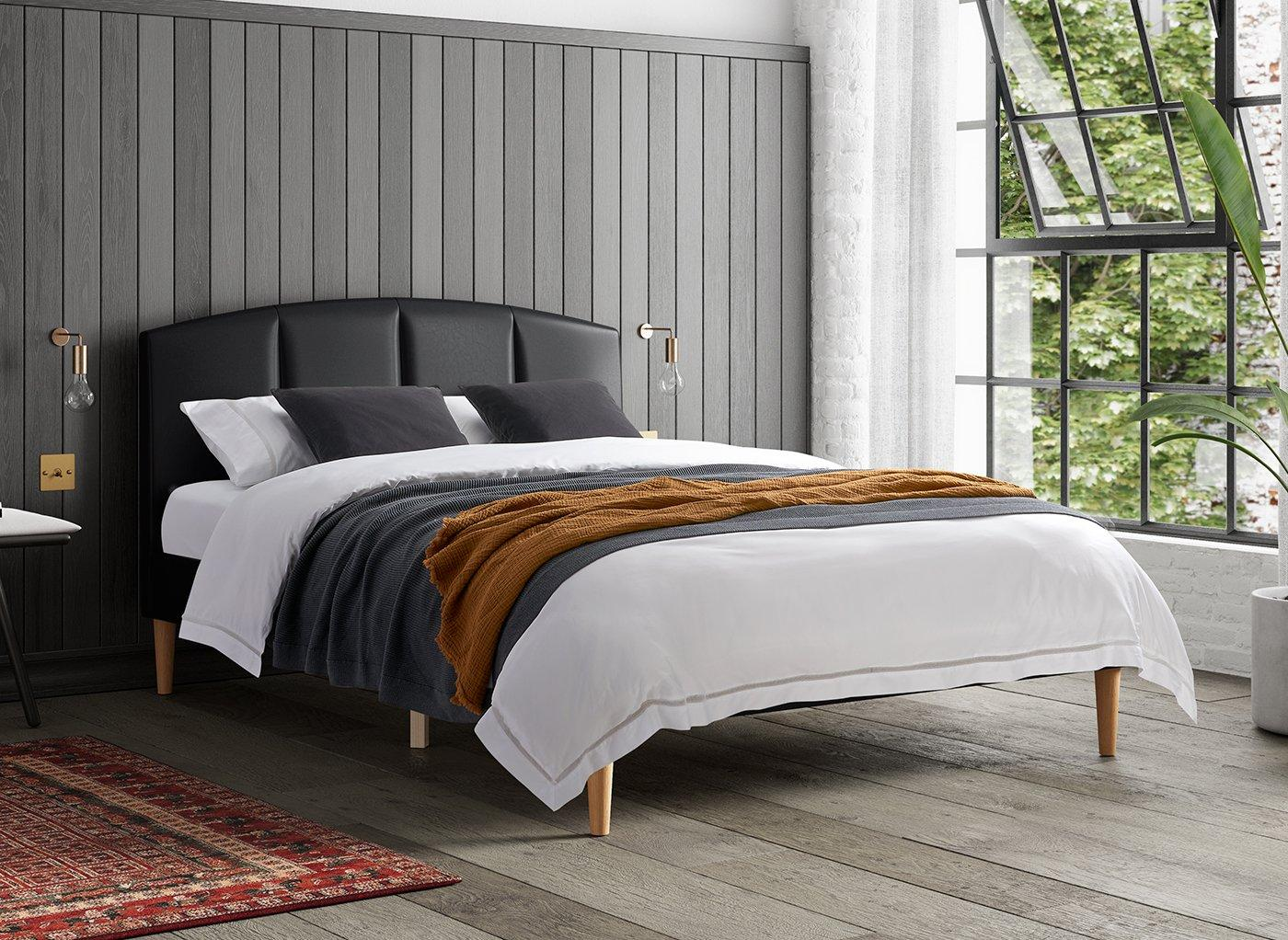 cassini-faux-leather-low-rise-bed-frame