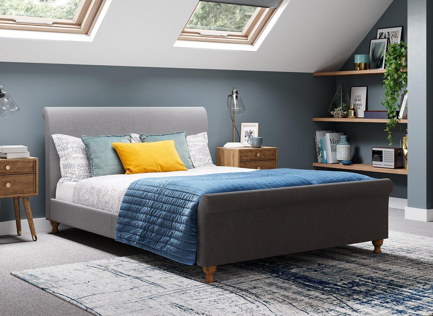 Marley Upholstered Low Rise Bed Frame (£249)