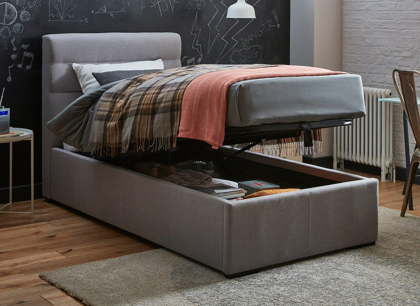 Picture of: Dawson Single Ottoman Sound System Bed Tv Tech Beds Beds Dreams