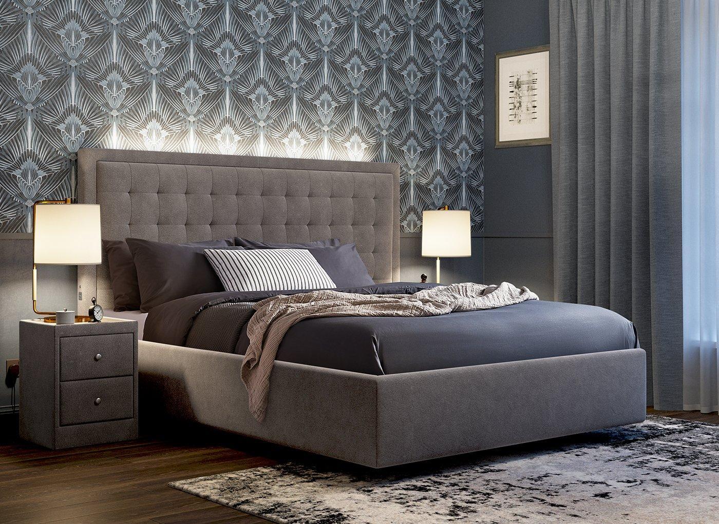 Hodgson Upholstered Bed Frame With Headboard LED Lights (£799)