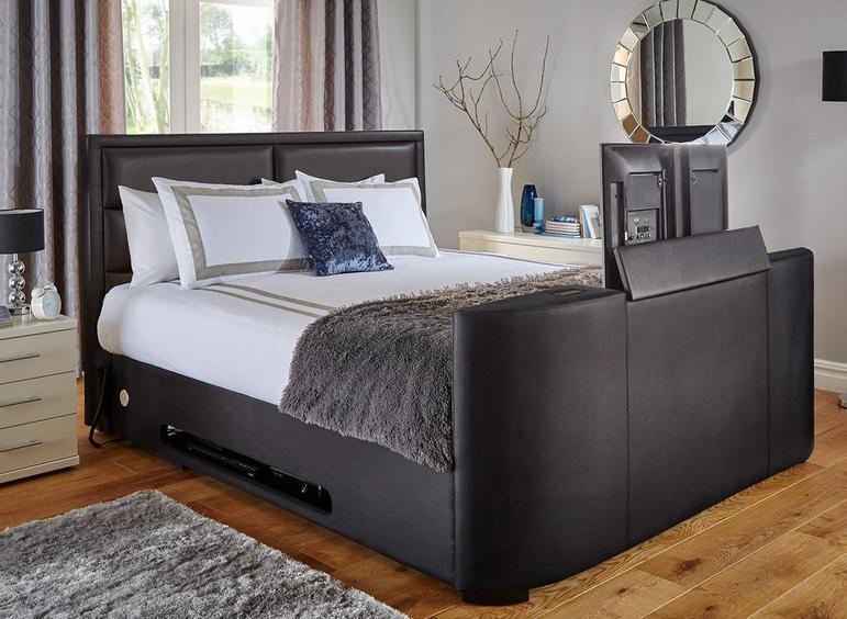 Truscott Upholstered 32 SMART TV Bed Frame