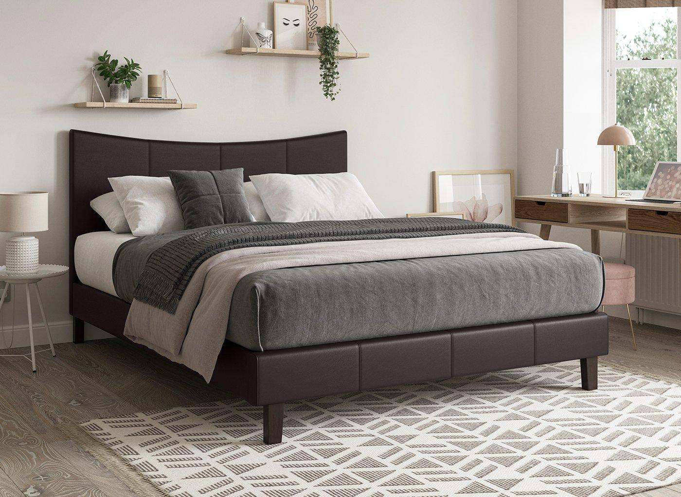 Jakarta Faux Leather Bed Frame Upholstered Beds Beds Dreams