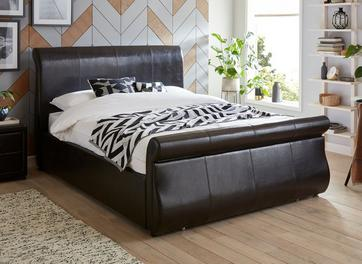Detroit Bonded Leather Upholstered Bed Frame