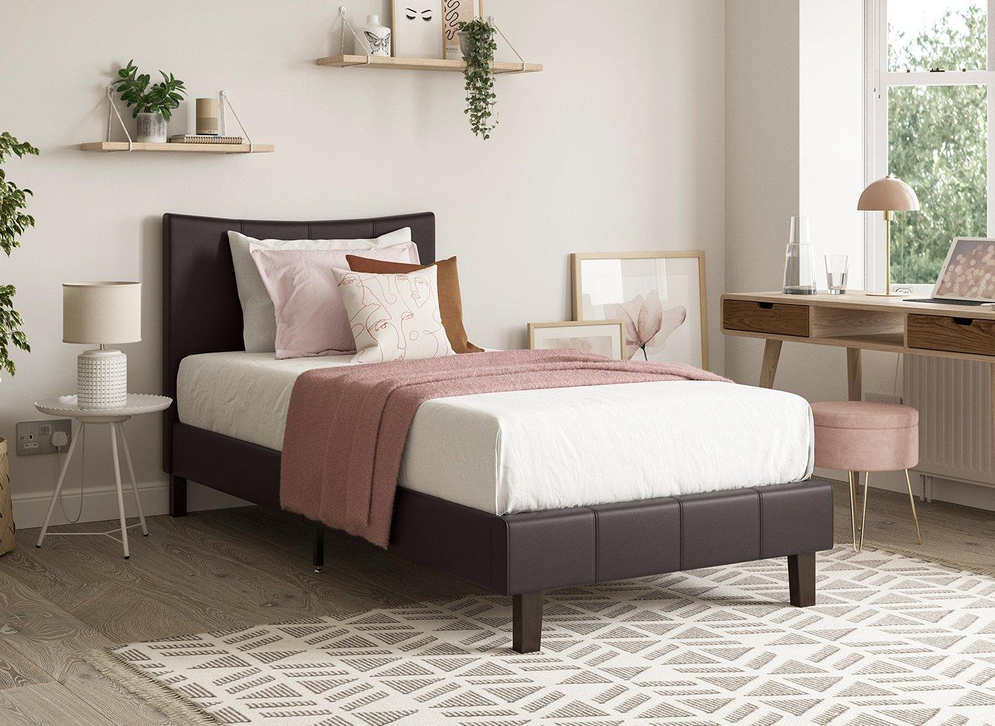 jakarta-faux-leather-low-rise-bed-frame
