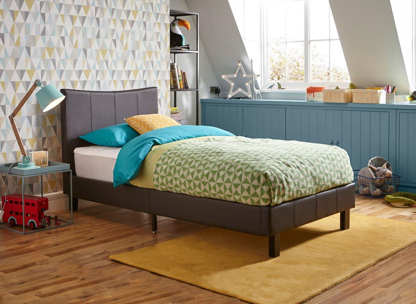Jakarta Faux Leather Bed Frame (£199)