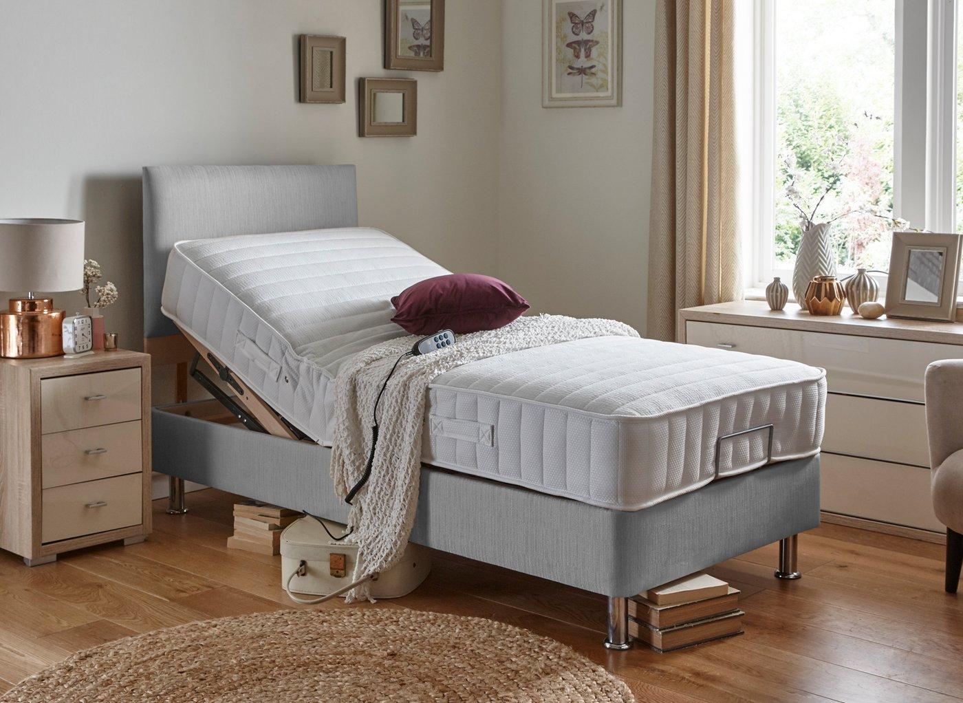 Danson Mattress With Standard Grey Adjustable Divan Bed - Medium 3'0 Single