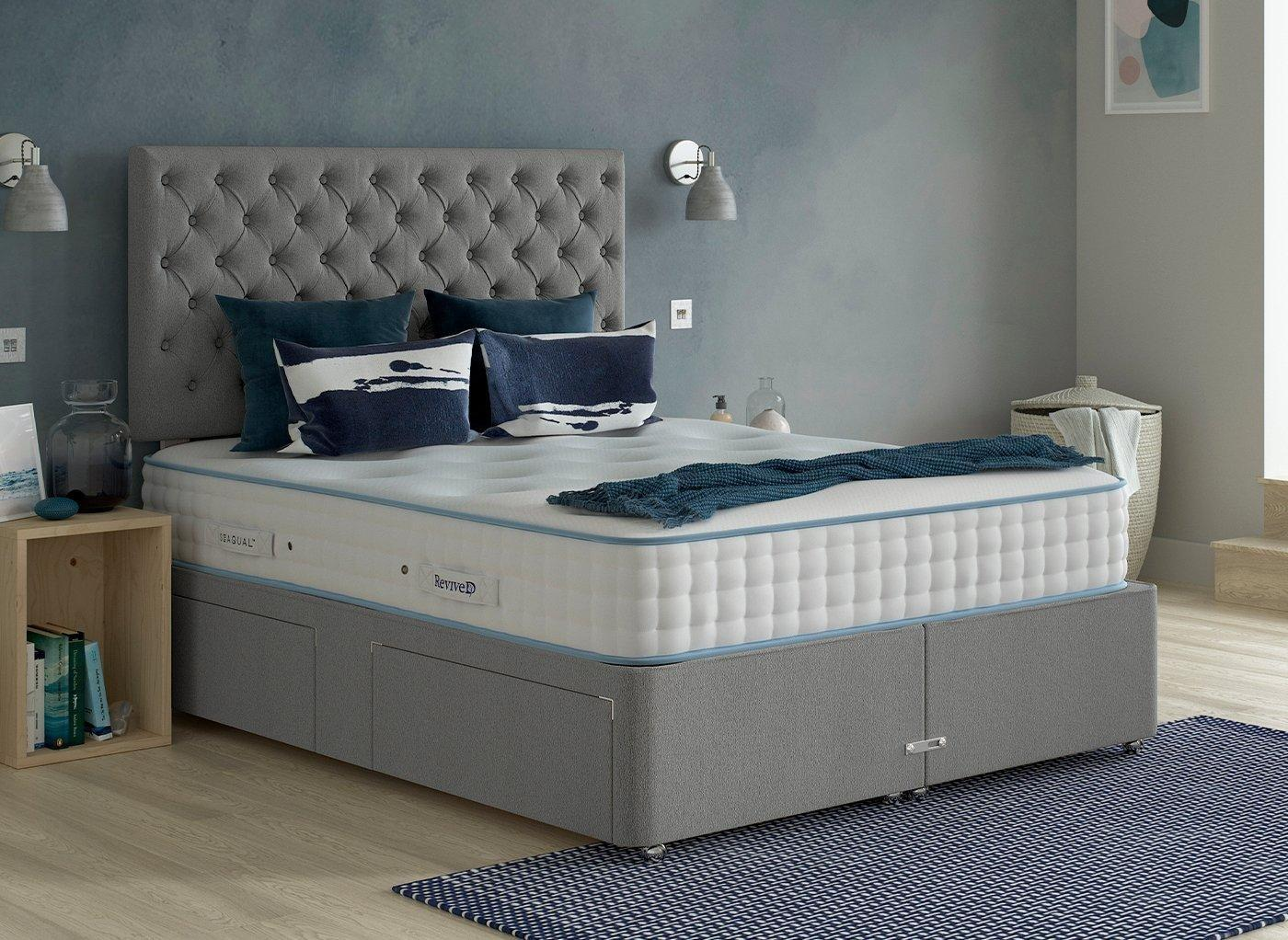 Luxury Divan Base 6'0 Super king GREY
