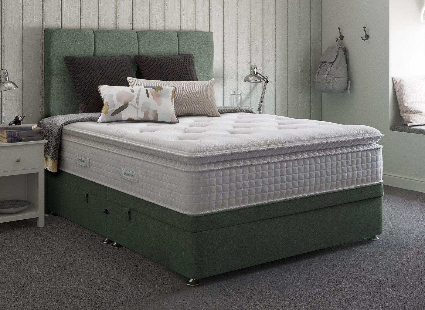 Therapur 4'0 Ottoman Base Only Tweed Mint 4'0 Small double