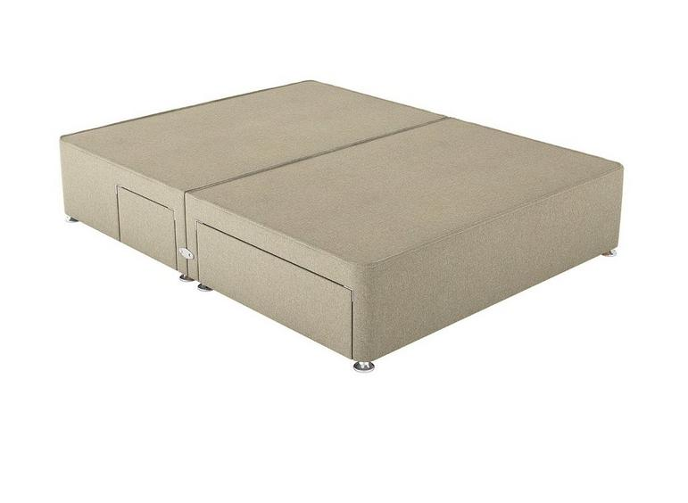 Therapur D P/T 2+2 Drw Base Only Tweed Biscuit 4'6 Double BEIGE