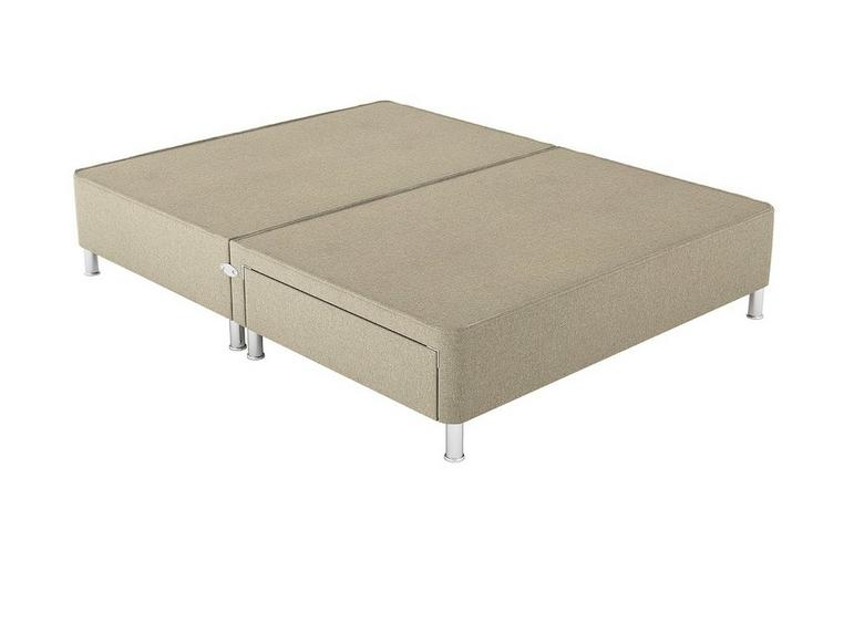 Therapur 4'0 P/T 2 Drw Leg Base Only Tweed Biscuit 4'0 Small double BEIGE