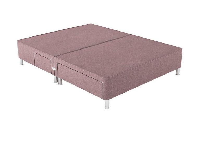Therapur K P/T 2+2 Drw Leg Base Only Tweed Blush 5'0 King PINK