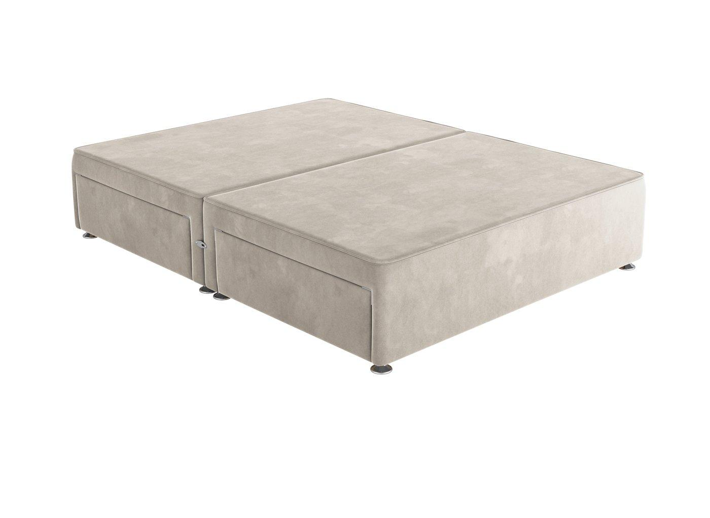 Sleepeezee D P/T 4 Drw Base Plush Ash 4'6 Double GREY