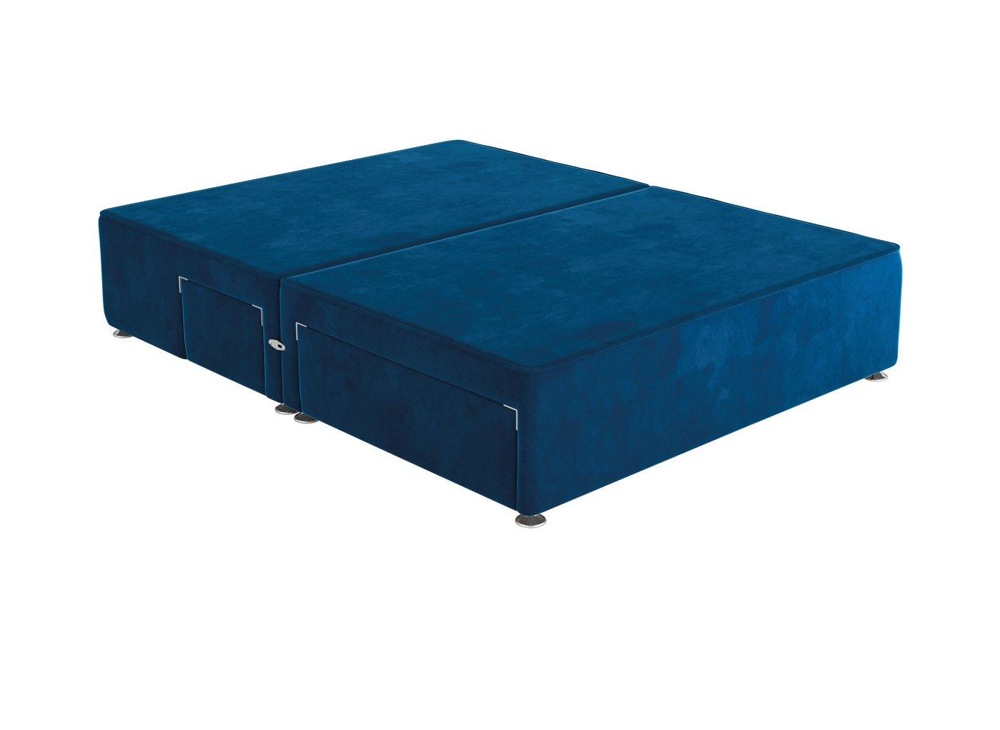 Sleepeezee 4'0 P/T 2+2 Drw Base Plush Navy 4'0 Small double BLUE