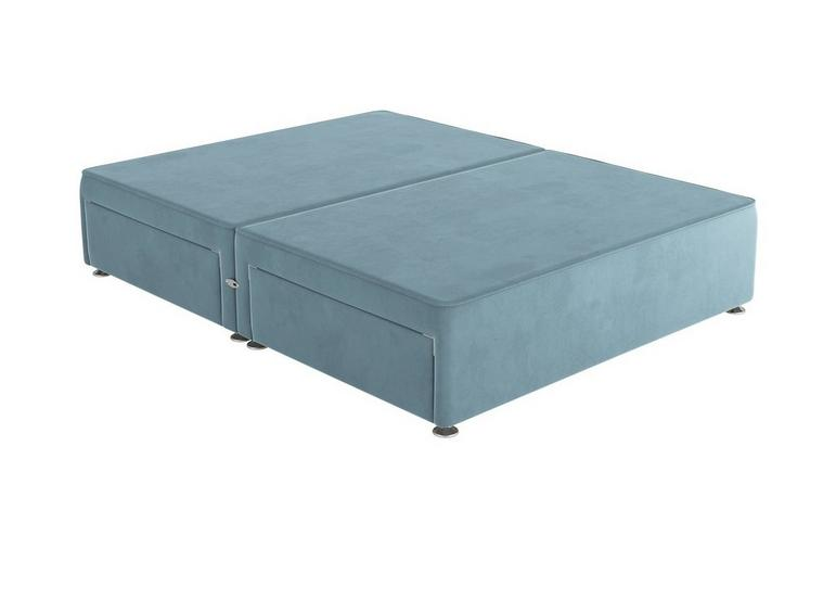 Sleepeezee D P/T 4 Drw Base Plush Sky 4'6 Double BLUE