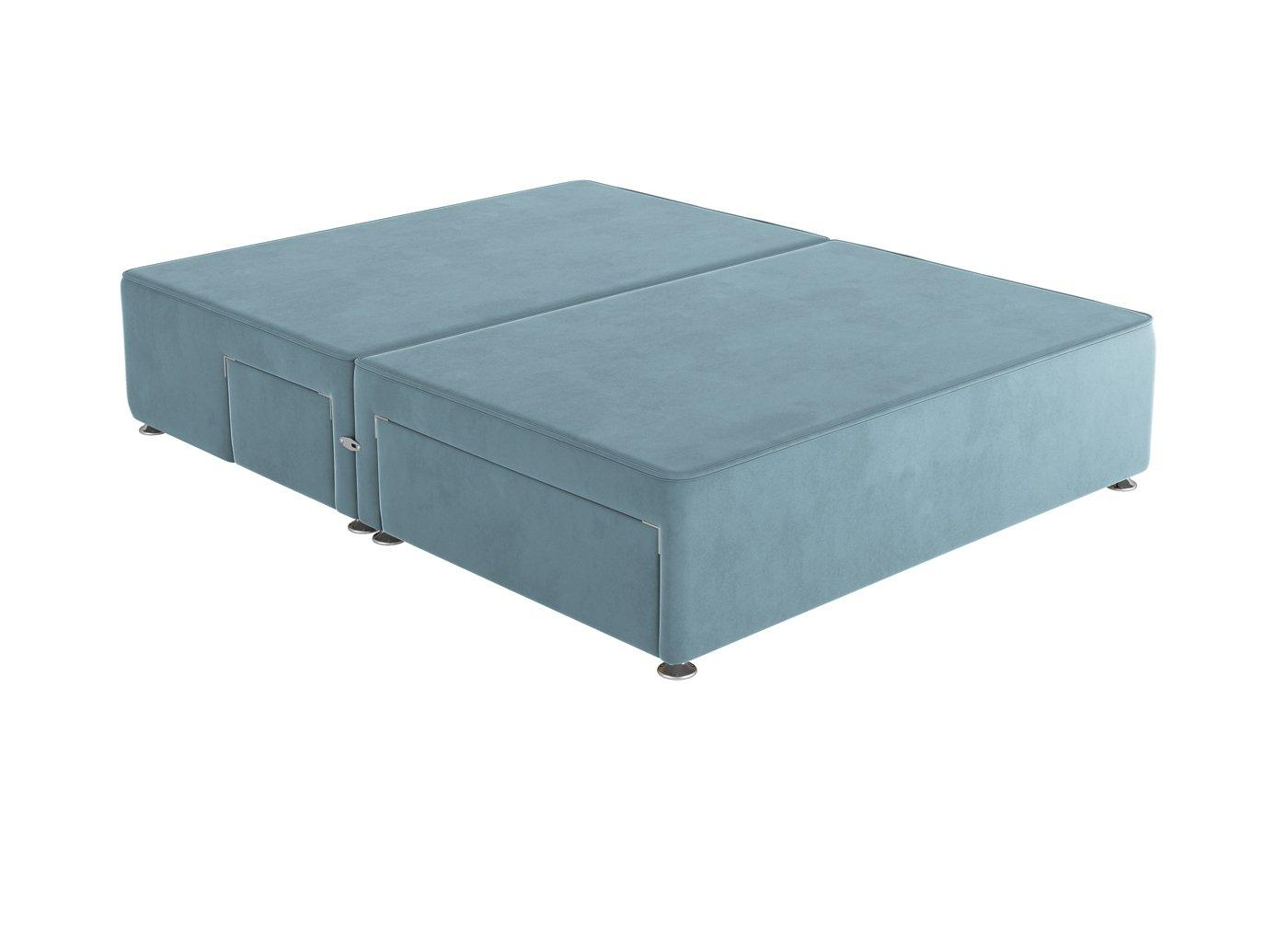 Sleepeezee D P/T 2+2 Drw Base Plush Sky 4'6 Double BLUE