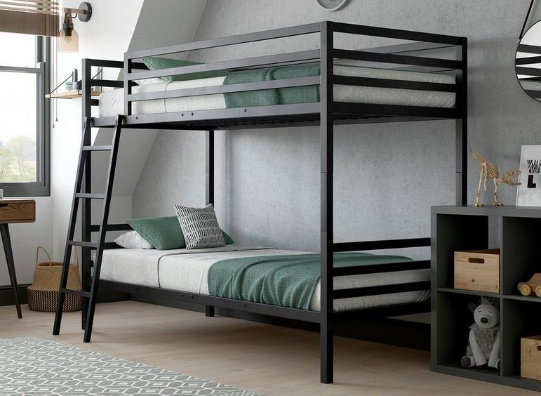Saturn Metal Bunk Bed BLACK