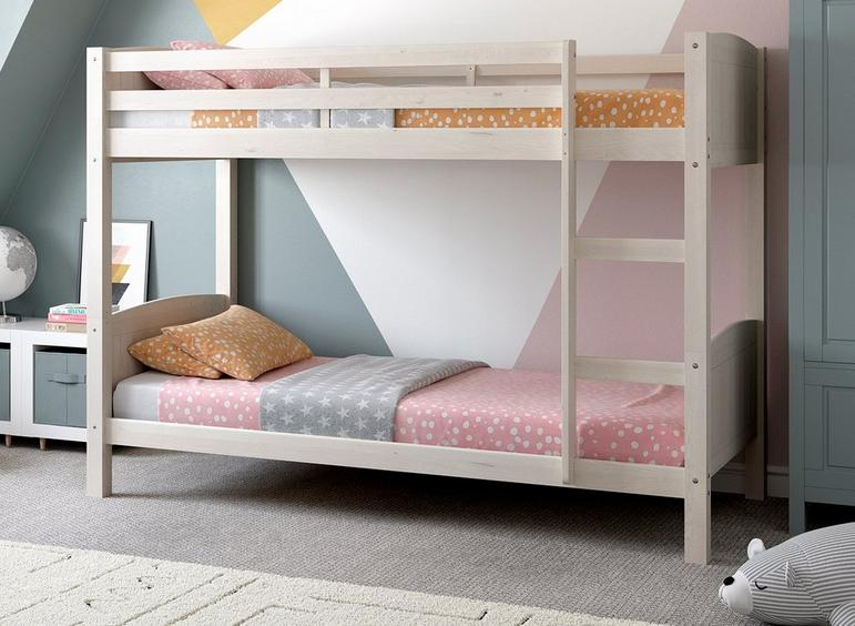 Mars Wooden Bunk Bed WHITE