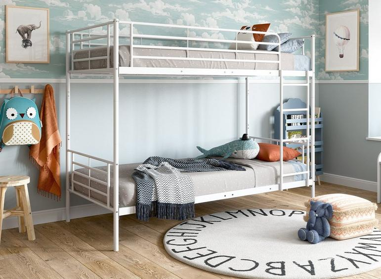 Neptune Metal Bunk Bed WHITE