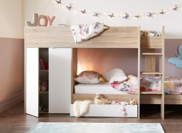Finley Bunk Bed Frame with Storage
