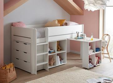Tinsley Mid Sleeper Bed Frame with Storage & Drawers