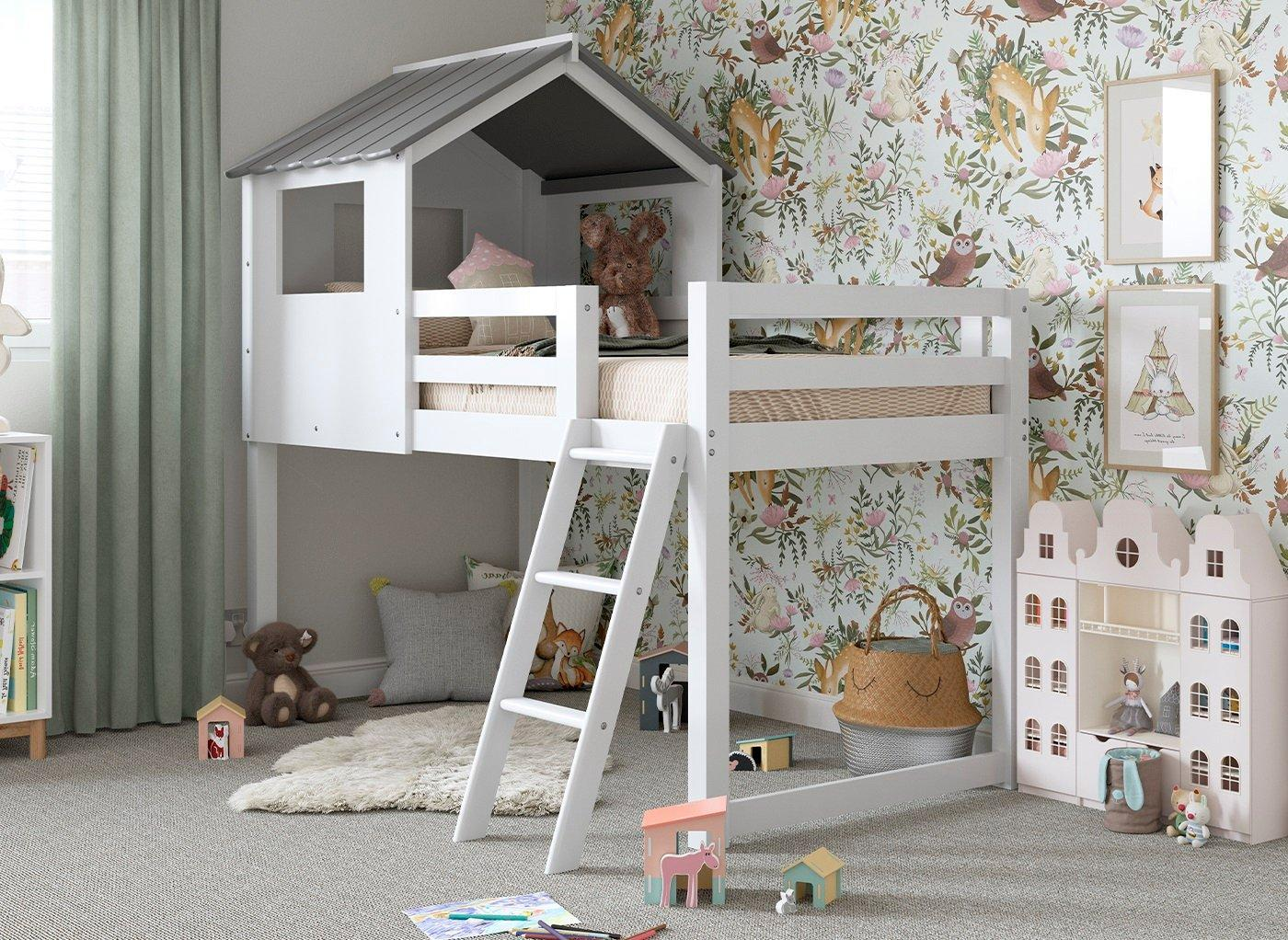 Picture of: White Midsleeper Cabin Bunk Bed Dreams