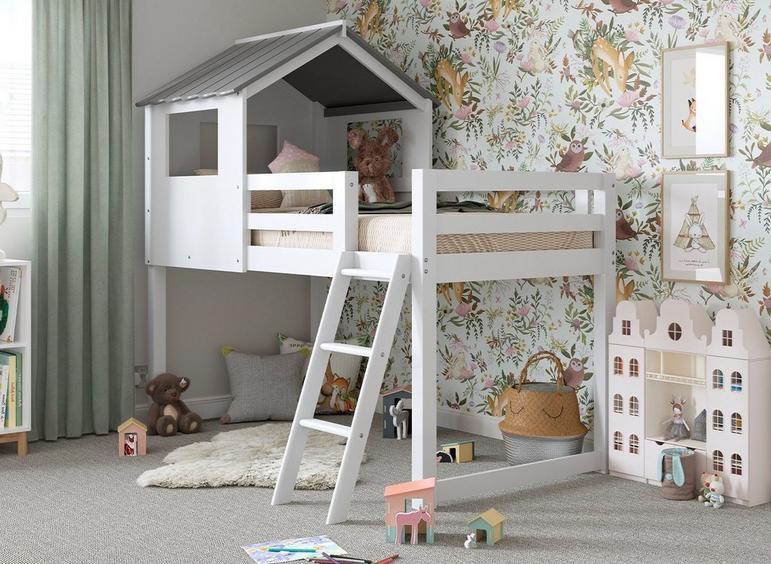 Cabin Midsleeper Bunk Bed WHITE