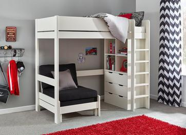 Tinsley High Sleeper Bed Frame with Storage & Chair