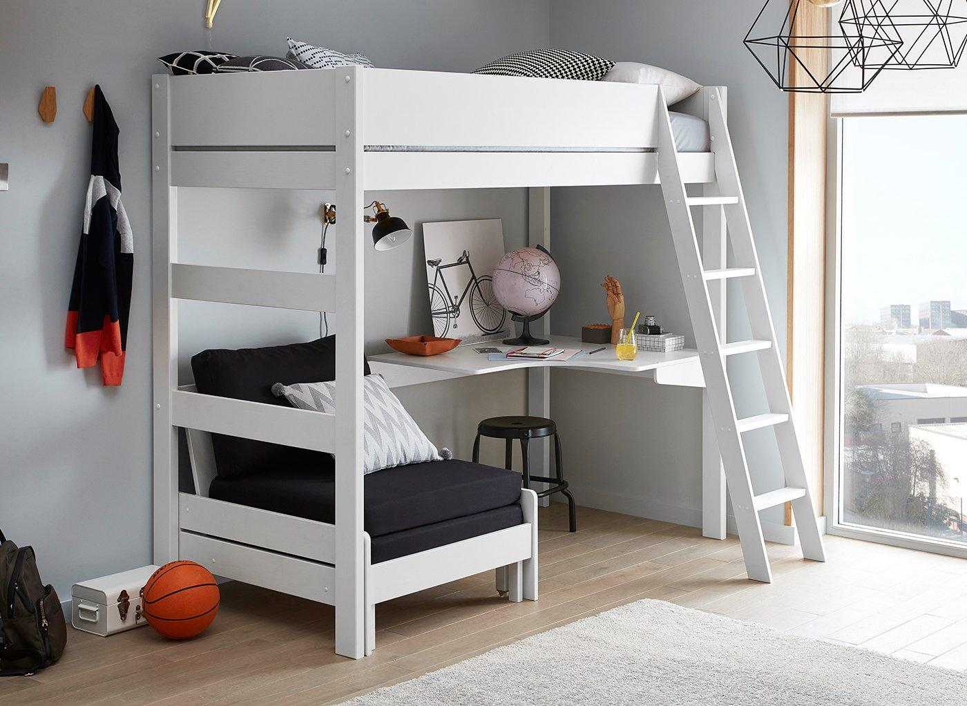 Picture of: Anderson Desk High Sleeper With Black Chair Kids Beds Kids Dreams