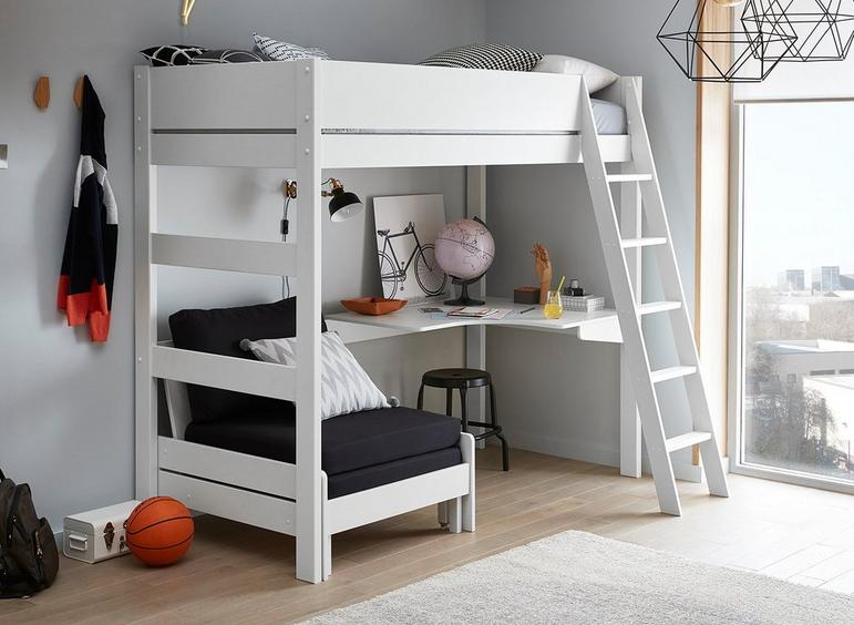 Anderson Desk High Sleeper With Black Chair | Kids | Dreams