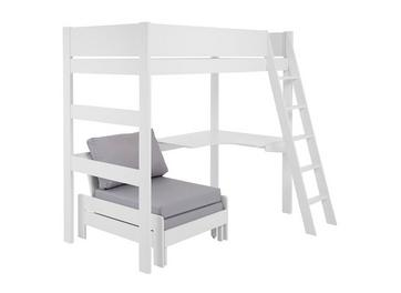 Anderson Desk High Sleeper With Silver Chair