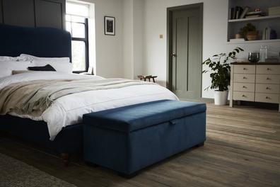 Salisbury Teal Blue Blanket Box