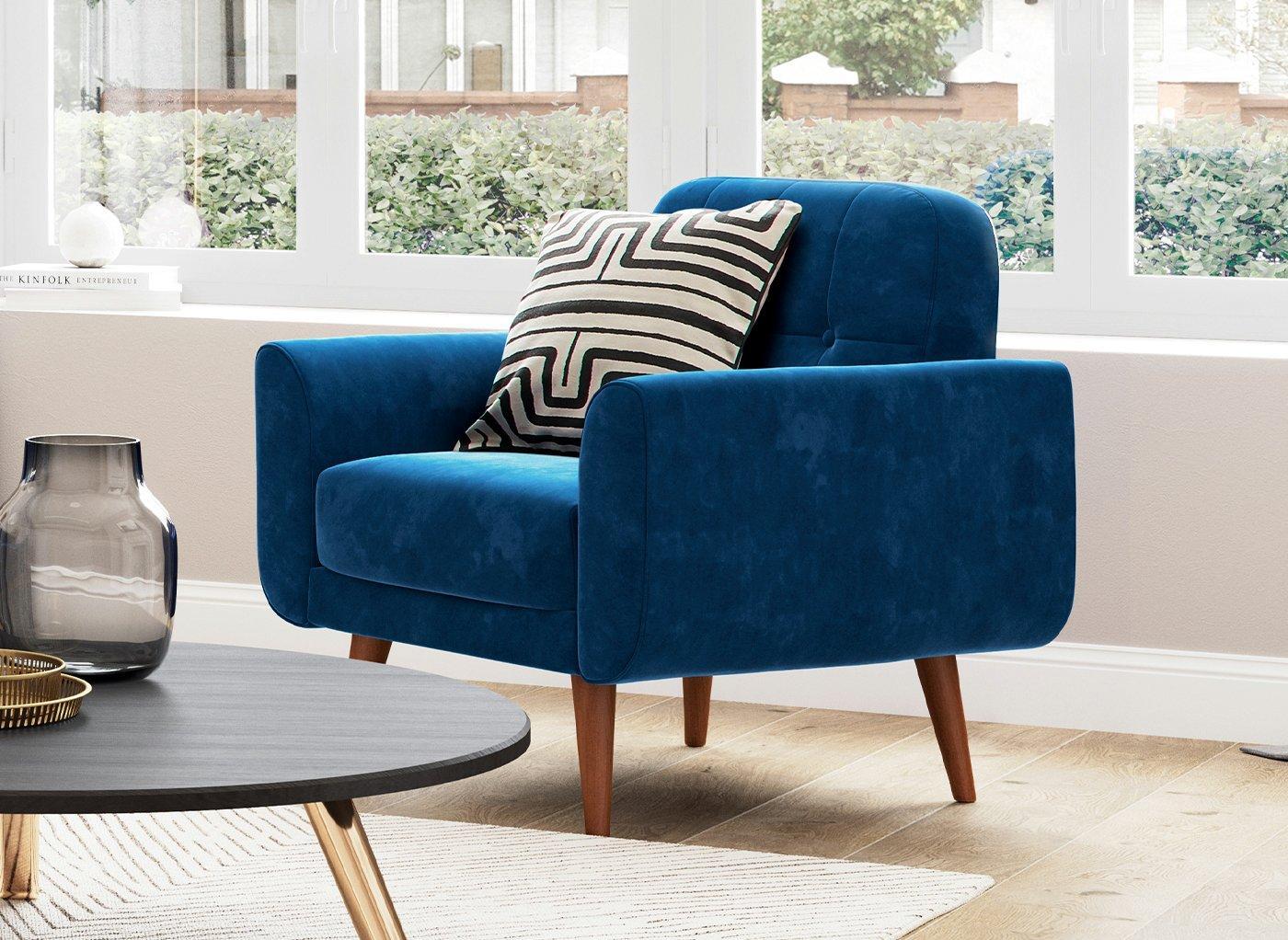 Gallway Chair - Navy Velvet BLUE