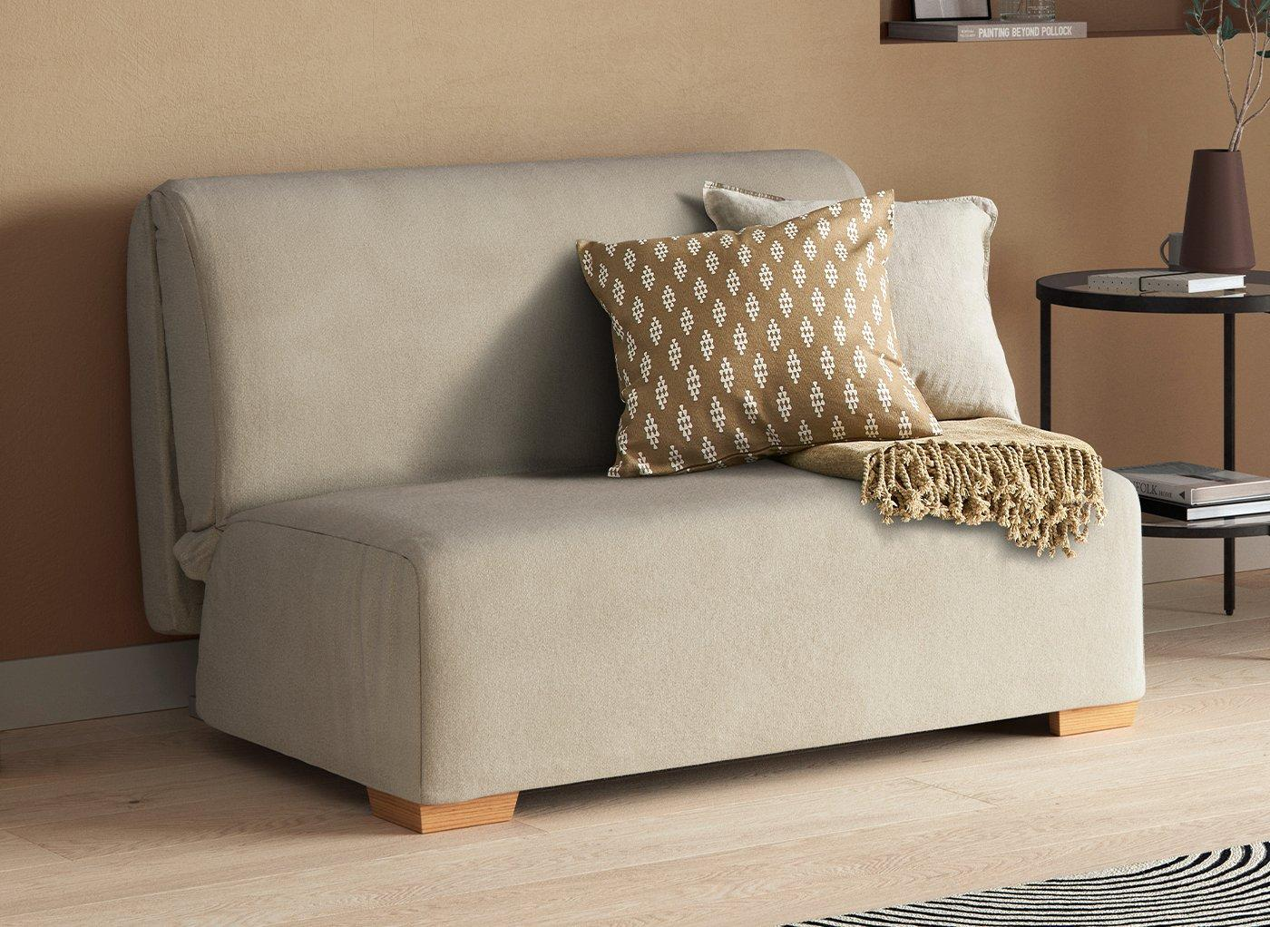 Cork 1 Seater A-Frame Sofa Bed - Cream Single