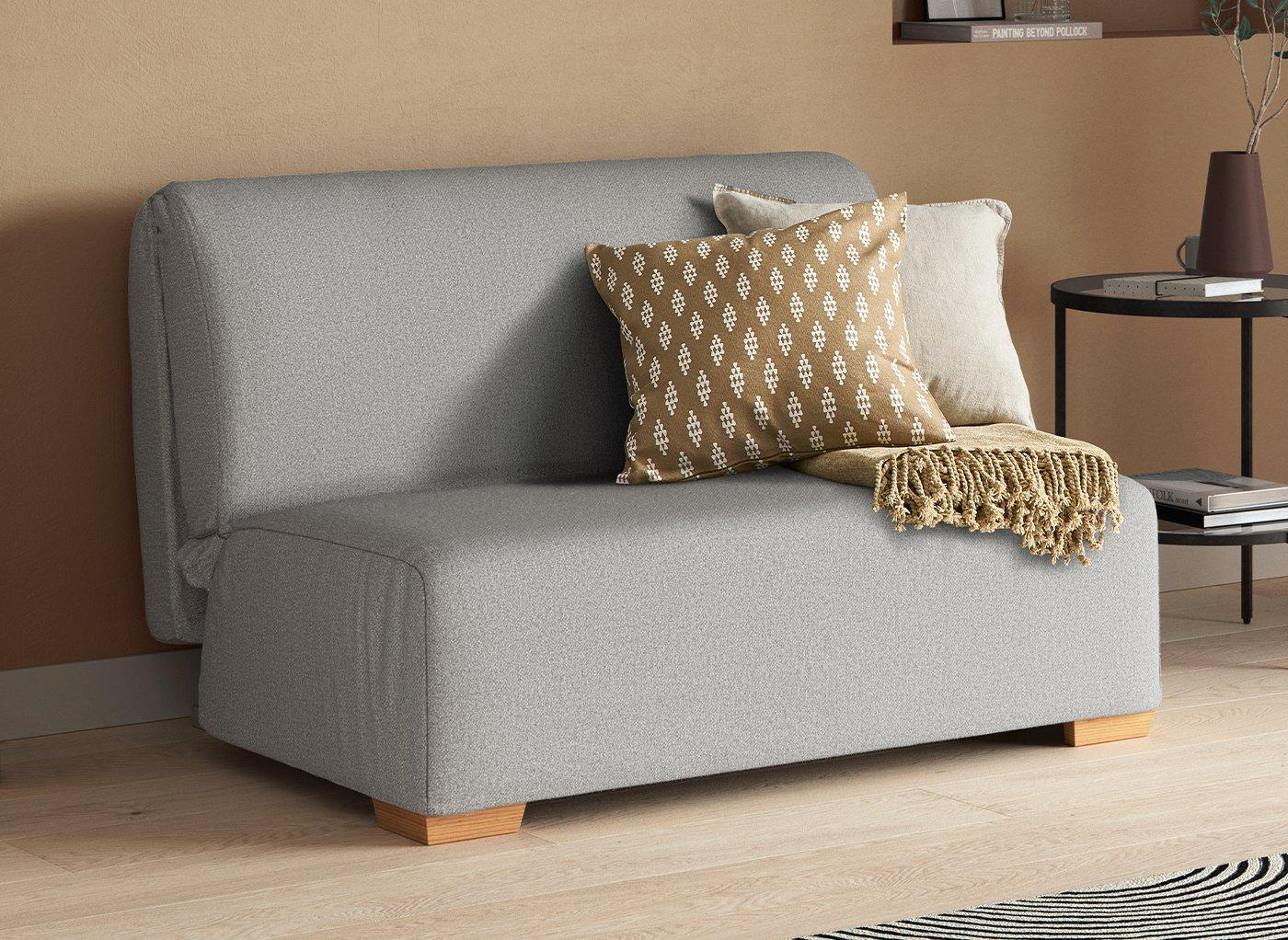 Cork 2 Seater 4'6 A-Frame Sofa Bed - Silver Double