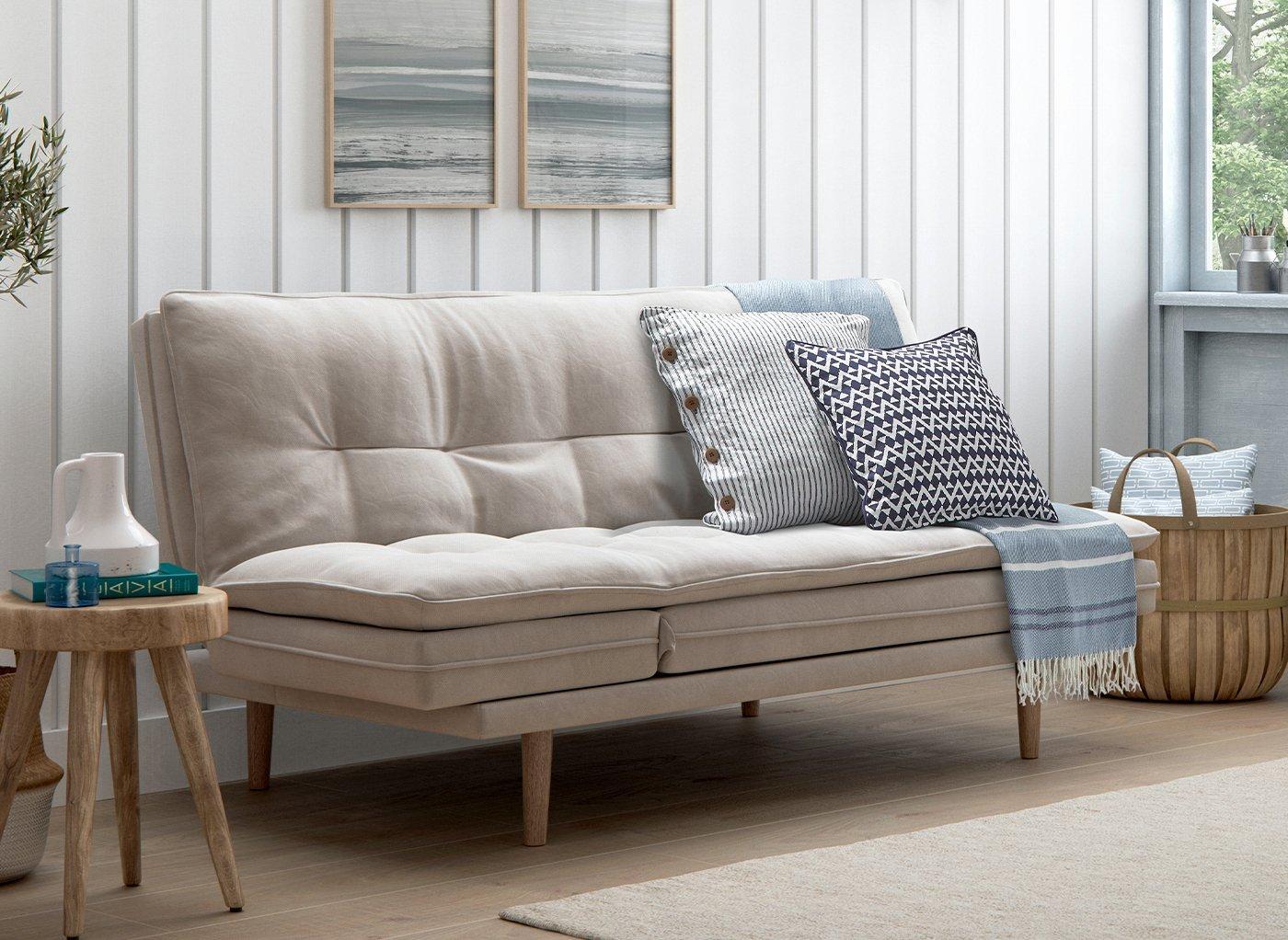 Dublin 3 Seater Clic-Clac Chaise Sofa Bed (£399)