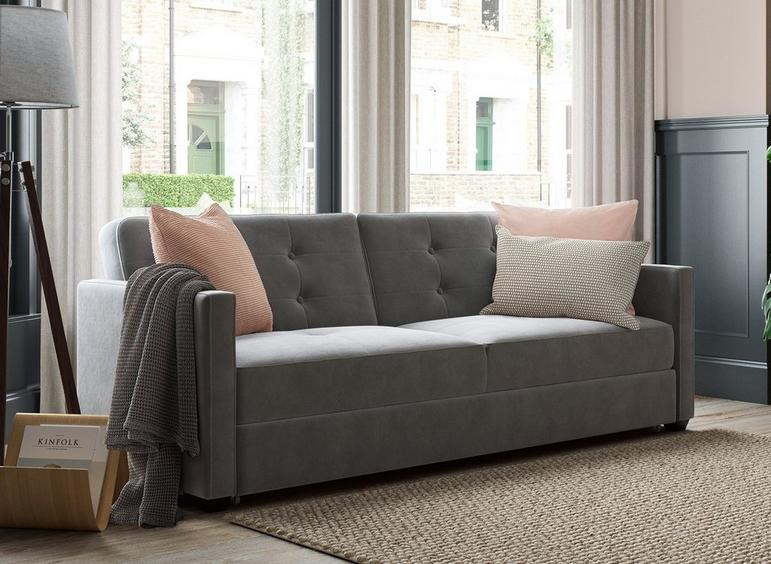 Belfast 3 Seater Sofa Bed - Smoke DARK_GREY