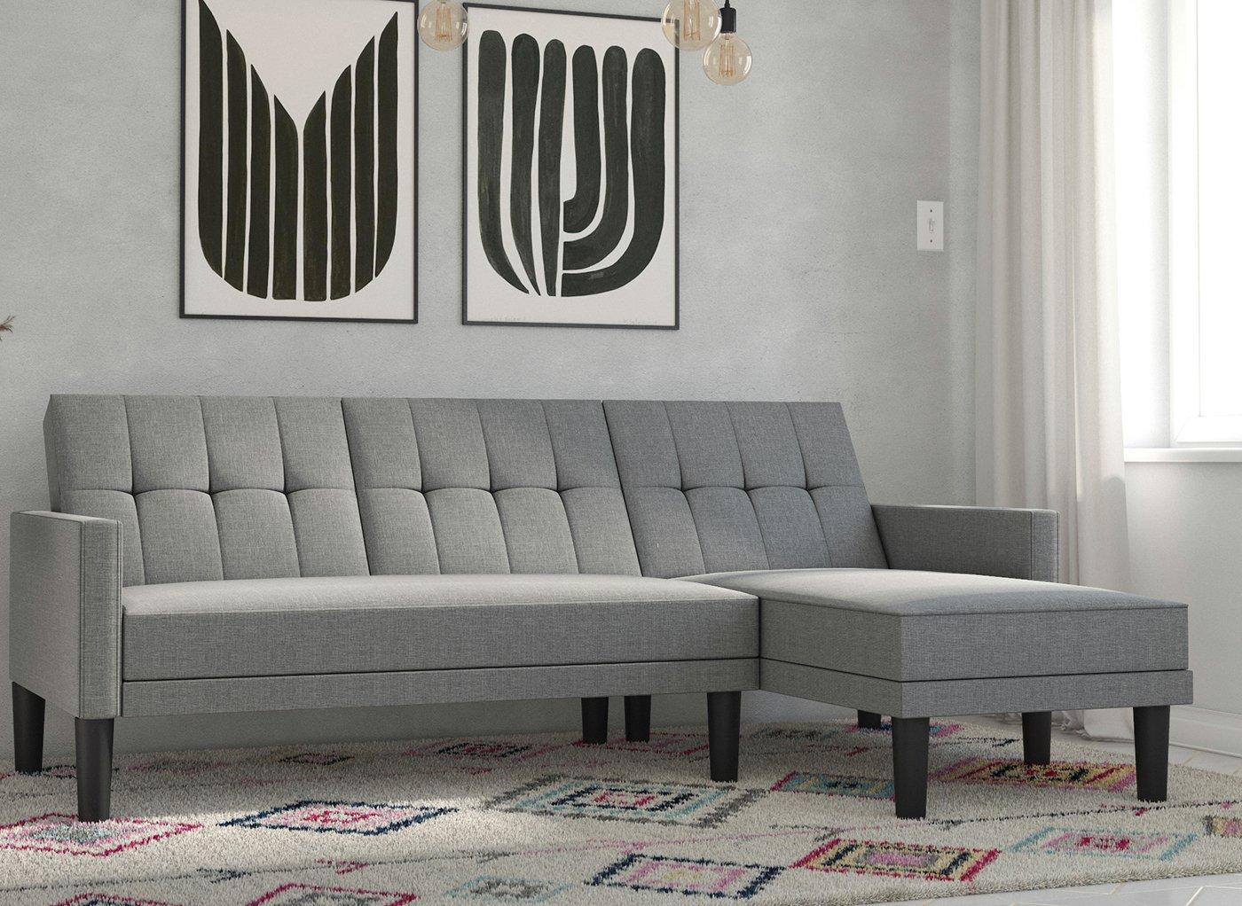 Valentina 3 Seater Clic-Clac Corner Sofa Bed (£399)