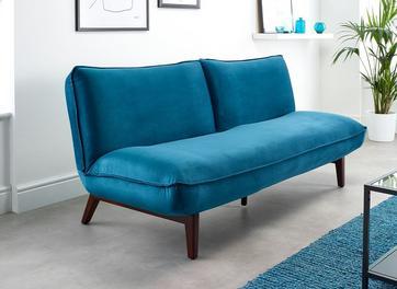 Noah 3 Seater Velvet Clic-Clac Sofa Bed