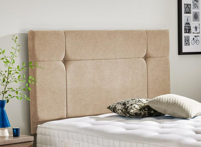 Hebden Headboard 3'0 Single CREAM
